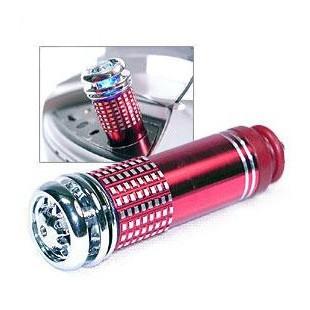 Ionizátor a čistička vzduchu do auta - červená