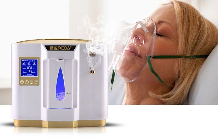 Kyslíkový koncentrátor OX ONE DEDA 6L s nebulizérem, napájením do auta, 96 %