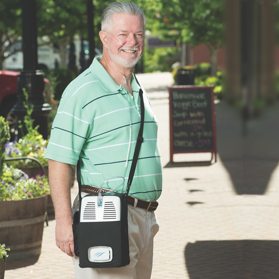 Kyslíkový koncentrátor, dýchací přístroj AIRSEP FREESTYLE 5L