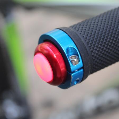 Boční LED osvětlení řídítek jízdního kola - červené