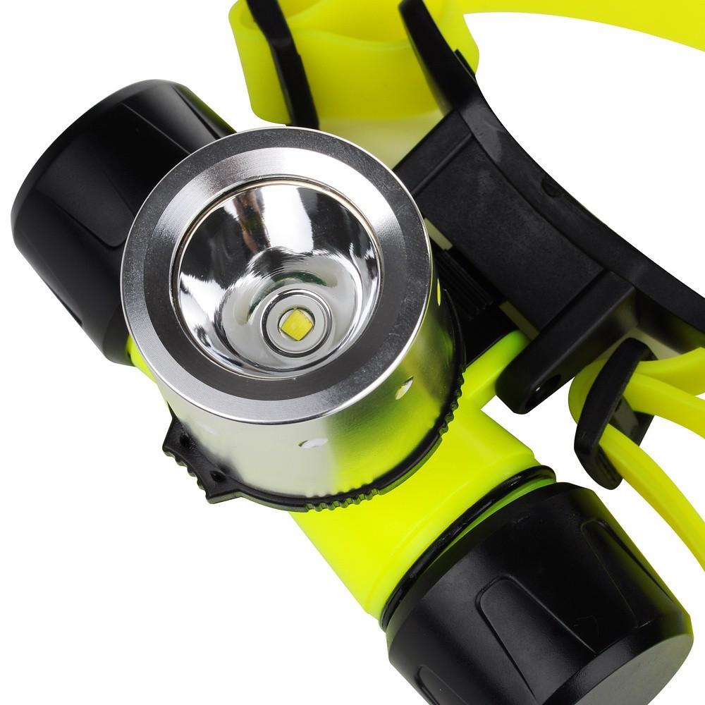 Vodotěsná LED čelovka Cree XM-L T6 – 200 až 800 lm, 3 režimy svícení