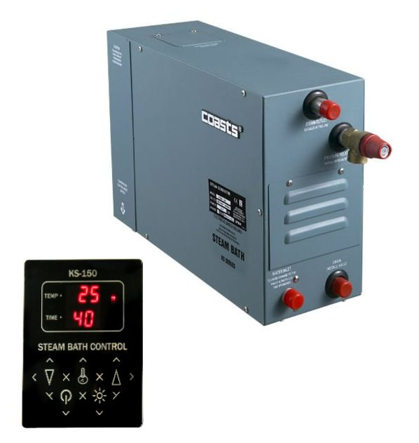 Parní generátor, vyvíječ páry pro saunu KSA-120 s ovládacím panelem KS-150, 380V