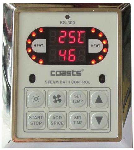 Parní generátor, vyvíječ páry pro saunu KSB-75CD s ovládacími panely KS-300 a KS30A