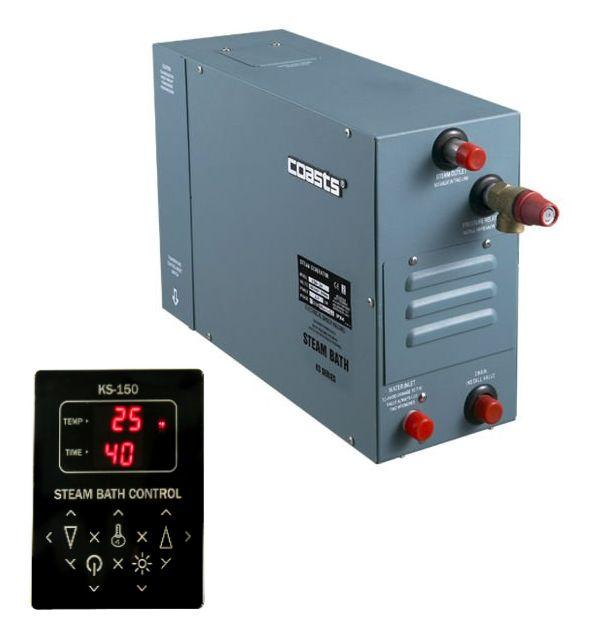 Parní generátor, vyvíječ páry pro sauny KSA-40 s ovládacím panelem KS-150