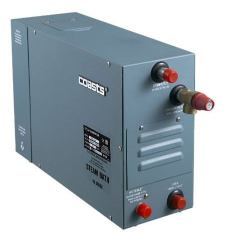 Parní generátor, vyvíječ páry pro saunu KSA-105 s ovládacím panelom KS-150, 380V