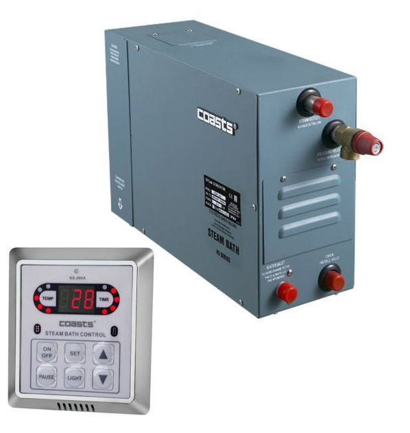 Parní generátor, vyvíječ páry pro saunu KSA-90 s ovládacím panelem KS-200A