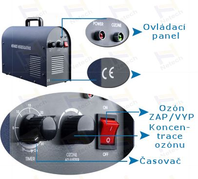 Ozónový generátor Netech NT-BS 3 g/h