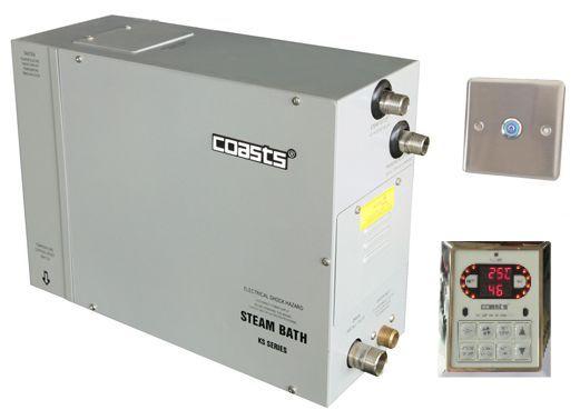Parní generátor, vyvíječ páry pro saunu KSB-30CD s ovládacími panely KS-300 a KS30A