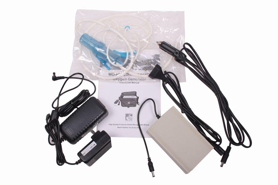 Přenosný kyslíkový koncentrátor s baterií LOVEGO EGET 3L, 23% s druhou, náhradní baterií