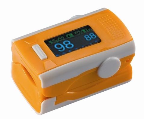 GBA pulsní oxymetr na prst - oranžový